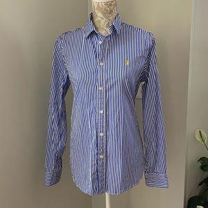 Polo Ralph Lauren Custom Blue/White Striped Shirt
